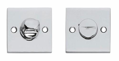WC - sluiting 8 mm vierkant groot chroom