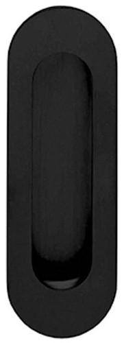 Schuifdeurkom ovaal zwart (blind) 120x40
