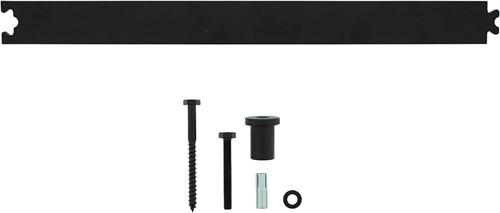 Tussenrail 45 cm tbv schuifdeursysteem inclusief bevestigingsset mat zwart