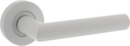 Deurkruk Hera op vierkant rozet wit
