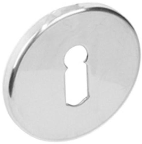 Sleutelgat plaatje rond verdekt 53x4,5mm RVS gepolijst