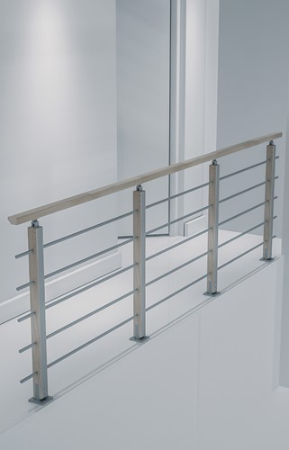 Balustrade Bretagne beukenhout/aluminium 320 cm