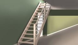 Rechte trappen van eikenhout