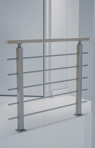 Balustrade Bretagne beukenhout/aluminium 120 cm