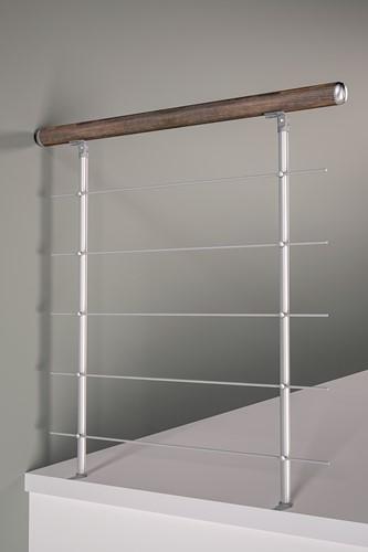Balustrade voor multi inzetbare kwartslag trap