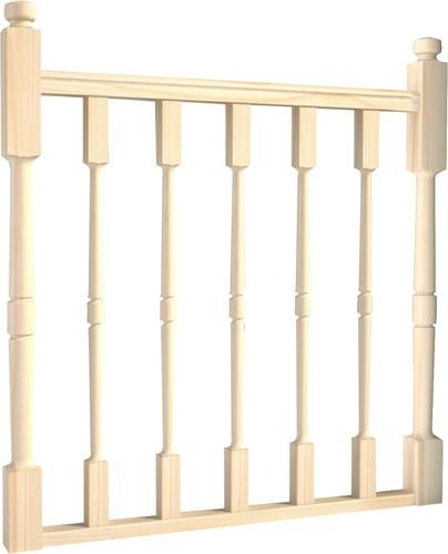 Bouwpakket balustrade JURA T 100 cm breed (Dennen)