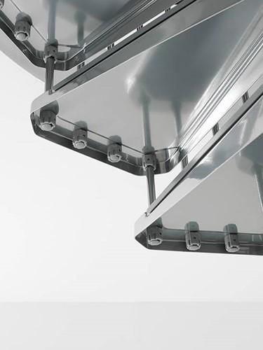 Extra trede voor de metalen wenteltrap met antislip diameter 120 - in chroom