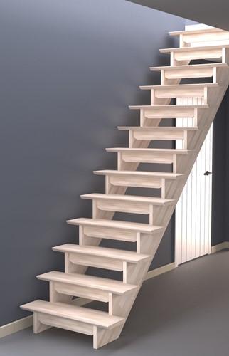 Bretagne rechte trap beuken  - zelf samen te stellen