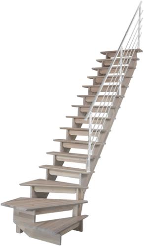 Auvergne trapleuning aluminium - kwartslag trap