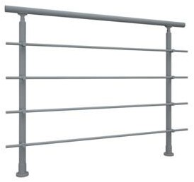 Aluminium balustrade RONDO (basis element)  - RAL 7037