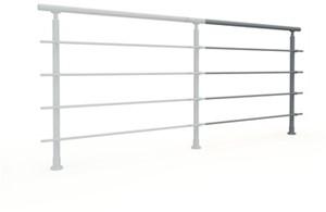 Aluminium balustrade RONDO (aanbouw element)  - RAL 7037