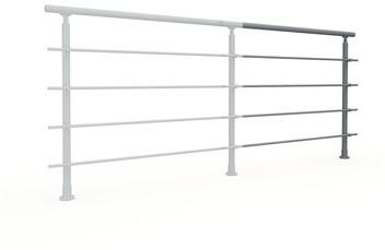 Aluminium balustrade RONDO (aanbouw element) RAL 7037