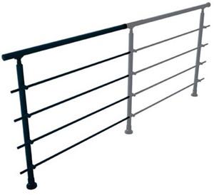 Aluminium balustrade RONDO (aanbouw element)  - RAL 7016