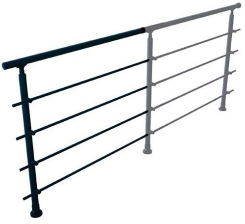 Aluminium balustrade RONDO (aanbouw element) RAL 7016