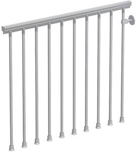 Balustrade voor de metalen wenteltrap met antislip  - in chroom