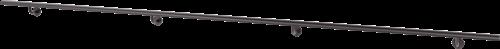 Pure black aluminium leuning 3 meter
