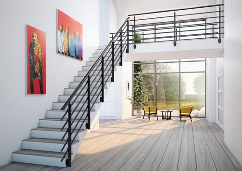 Aluminium balustrade Pure Black 250 cm
