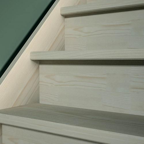 Tegentreden rechte trap - Dennen