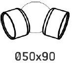 Koppeling handgreep Rondo RAL7016