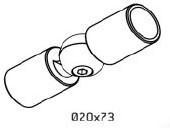 Koppeling voor relingen Rondo RAL7016