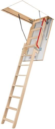 Uitschuifbare zoldertrap. Bakhoogte 14 cm (exclusief ladder)