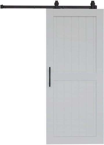 "Barndoor model ""COTTAGE"" - 800 x 2100 mm - Licht grijs"