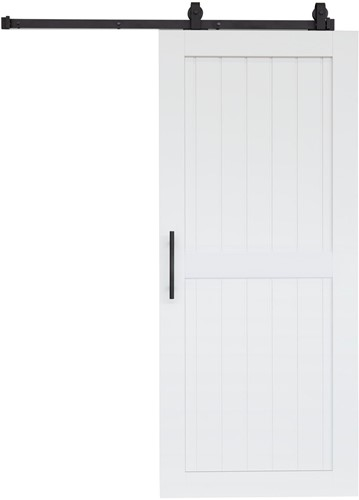 "Barndoor model ""COTTAGE"" - 800 x 2300 mm  - Wit"