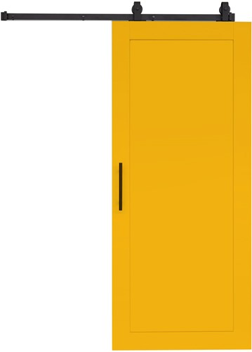 """Loftdeur """"WOOD"""" - 900 x 2200 mm  - Geel"""