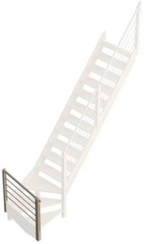 Savoie geanodiseerde Aluminium leuning M kwartslag beneden