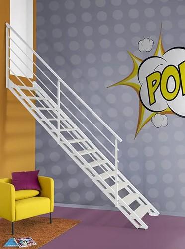 "Moderne stalen trap ""POP"" Wit"