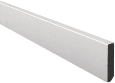Rechte plint 12 x 90 mm MDF V313 - wit gegrond
