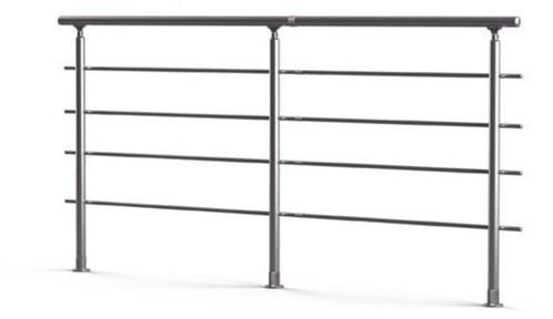Aluminium balustrade RONDO (aanbouw element)