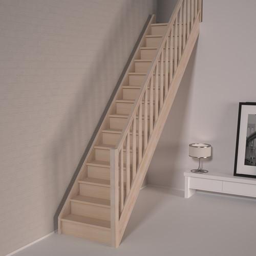 Beukenhouten dichte rechte trap