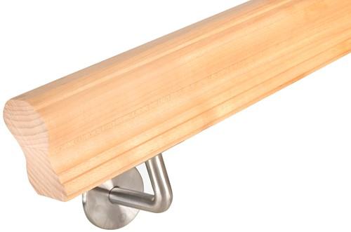 Gebogen trapleuning sleutelgat profiel 60 x 70 mm