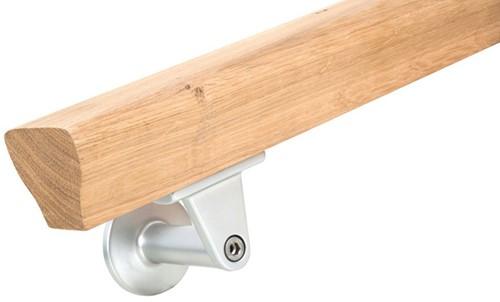 Gebogen trapleuning sleutelgat profiel 65 x 50 mm