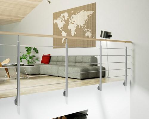 Interio balustrade staal/beukenhout 250 cm